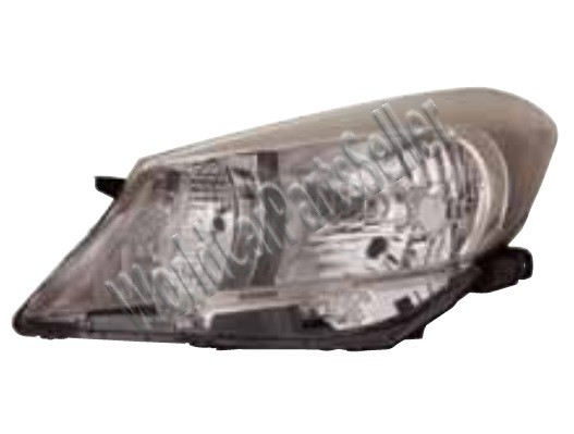 Manual Electric Halogen Headlight Left Fits Toyota Vitz