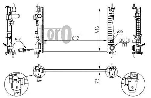 Radiator For ALFA ROMEO Giulietta 940 10-50514466