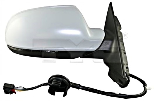 Side Mirror Aspherical Primed LEFT Fits AUDI A3 Sportback 8P Rs3 S3 2004-2013
