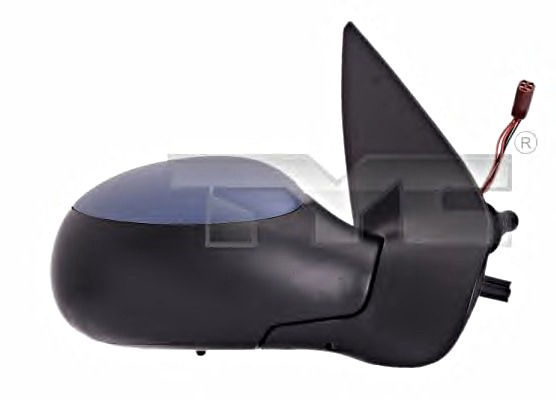 RH Side Mirror Convex Primed Heatable RIGHT Fits PEUGEOT 206 1998