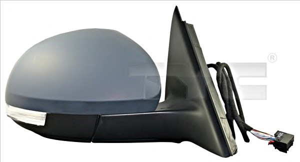Electric Side Mirror Convex Heated Primed RIGHT Fits SKODA Octavia 96-2004